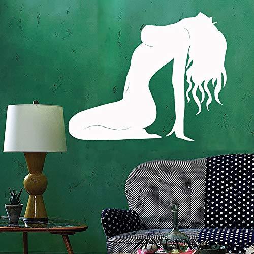 Geiqianjiumai Muurtattoo voor dames, mooie meisjes, stickers, teenkamer, afneembare kunst, muurdecoratie