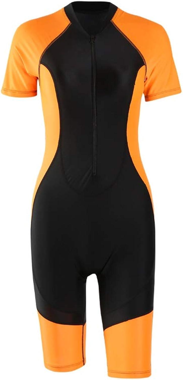 Dünger hinzufügen Neoprenanzug Tauchanzug Damen Siamese Large Größe Elastic Short Sleeve Zipper Badeanzug Sonnencreme Schnorcheln SegelStiefel Kanu Schwimmen Surfbrett Weiblich 3 Farbe MUMUJIN