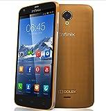 Infinix Race Jet - Smartphone Libre 4G (Pantalla: 5 Pulgadas, 8 GB, SIM Simple, Android 4.4 KitKat), Color Dorado