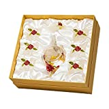 huiingwen Tetera de cristal, diseño de flores de rosas y mariposas, resistente al calor, tetera de cristal con colador para...