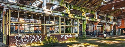 Eurographics Glasbilder Garderobe 30x80cm (Abandoned Factory G-DC1194)