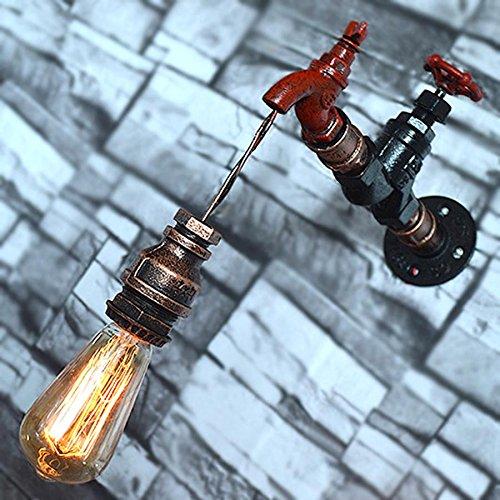 Retro-industrielle Metallrohr Tisch Lampe Wasserhahn Wandlampe Wasserpfeife Lampe Passend Wohnzimmer Küchen Schlafzimmer Restaurant Hote Korridor bar Cafe Wandbeleuchtung E27 Wandleuchte