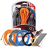Magic source Amp Wiring Kits 8 Gauge 5M/16.4Feet OFC Power Cable+Copper RCA Cable+60A Mini Fuse Holder+Trigger Wire for Car Audio Amplifier Installation Wiring Kit (8 Gauge)
