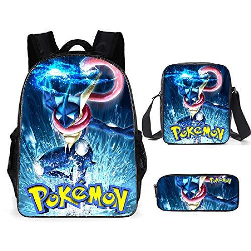 Charizard, set di borse per la scuola, con stampa 3D, zaino grande capacità, zaino multifunzione, tracolla regolabile (Pokémon8)