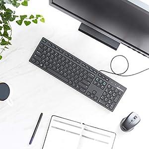 AmazonBasics Matte Black Wired Keyboard - US Layout (QWERTY)