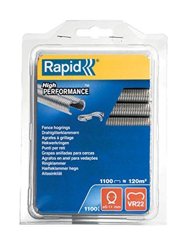 Rapid 40108806 VR22 Galva, Gris, 1 paquet de 1100 pièces
