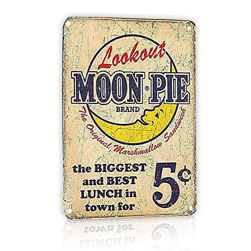 M-Mount Lookout Moon Pie The Biggest And Best Lunch In Town For 5 cents Tin Signs 8X12Inch