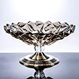 Sala de Estar Moderna Glass Fruit Basket, Utilidad para el hogar Utilidad Crystal Candy Fruit Plate - 32 * 16.5 * 18cm Grandes Snack Tray