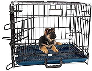 RvPaws Single-Door Folding Metal Dog Cage with Paw Protector Easy to Move with Removable Tray Iron Cage for Dog & Rabbit 1...