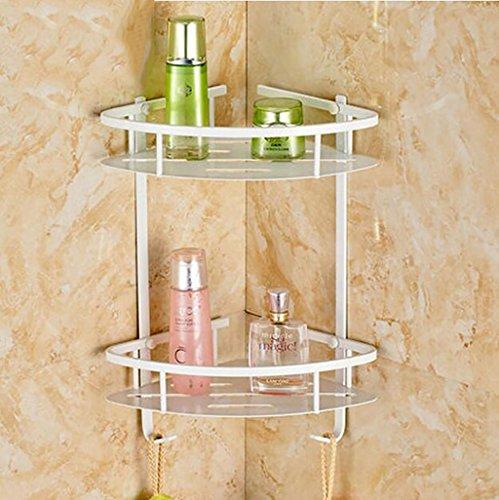 FAFZ Rack de salle de bain de style européen, panier triangle double crochet, cadre de cosmétiques (couleur : 1#)