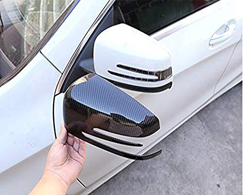 YUECHI for Mercedes Benz A CLA GLA GLK Class W176 W117 X156 X204 2014-2017 Carbon Fiber Side Rear View Mirror Cover Trim