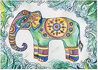 大人の若者の子供たちのジグソーパズル3000個の部族の象の葉大きなジグソーパズルゲームファミリーゲームエンターテイメントおもちゃギフト家の装飾