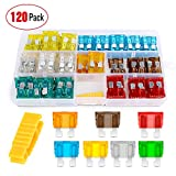 Workhorse FasTrack FT1460 Electrical Parts - Nilight - 50016R 120 pcs Standard Fuse Assortment kit – 5, 7.5, 10, 15, 20, 25, 30 AMP – Regular APR/ATO (Open)/ATC Blade Fuses for Cars, Trucks, Boats,Automotives,2 Years Warranty