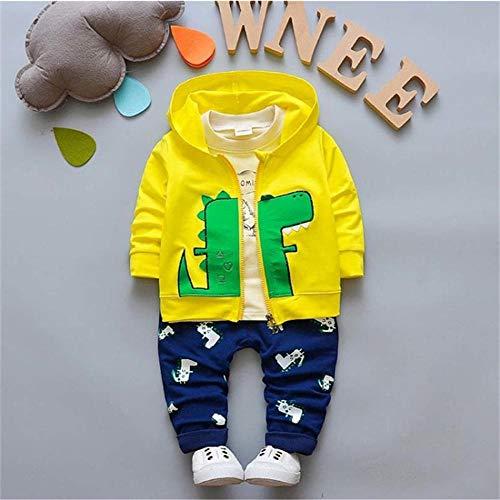 AOQW Baby Boy Sports Suit Conjuntos De Ropa Niños Ropa Floral para Trajes Formales Traje Moda Tops Camisa Pantalones-5_18M