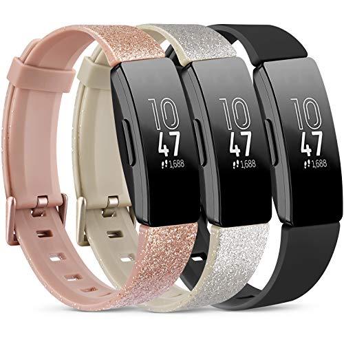 Vancle 3 Pack Kompatibel für Fitbit Inspire HR Armband & Fitbit Inspire Armband, Silikon Sport Ersatzarmband für Fitbit Inspire/Inspire HR