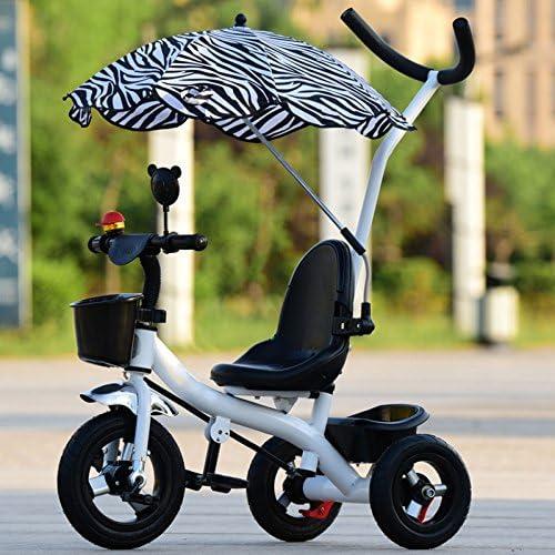 QXMEI Kinder Dreirad Pedal Cart Fahrrad 1-3-6 Jahre Alt,Weiß3