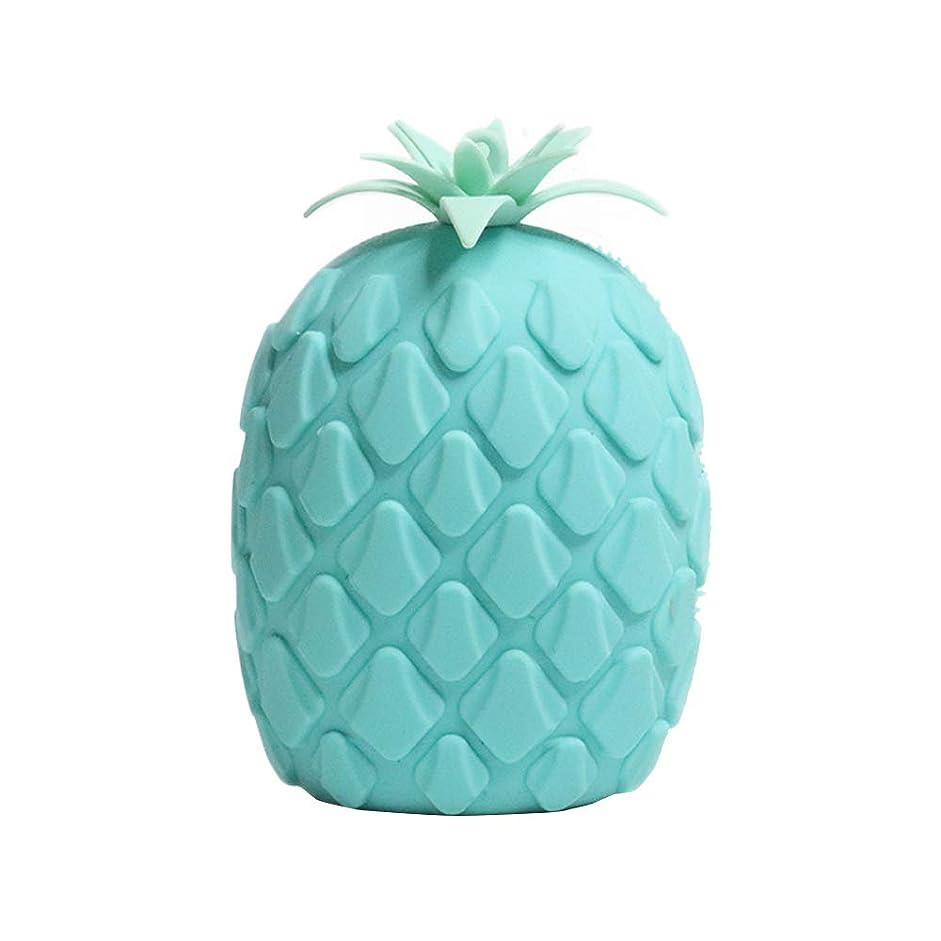 本土スリップラベンダーPannow バスブラシ 可愛いパイナップル シリコン製 両面マッサージブラシ 体洗い 柔らかい お風呂ブラシ 血行促進 角質除去 美肌効果 超柔らかい毛 グリーン