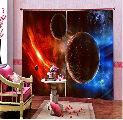 MUXIAND rode ster gordijnen 3D gordijnen van de wereld woonkamer slaapkamer gordijnen verduistering gordijn op maat