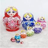 Matryoshka 10 Capas Lindas muñecas de anidación Rusa Decoración del hogar Nesting Doll Series Pintad...