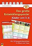 Auf einen Blick: Das große Entwicklungsposter – Kinder von 3–6: Mit 10 Kompaktübersichten für Eltern und Team