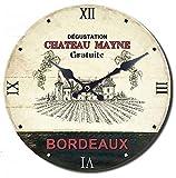 Alice's Collection  Reloj de Pared Redondo Grande de Madera Vintage poca MDF  Reloj Estilo Shabby Chic Vlido para Saln Comedor Cocina y Dormitorio | Dimetro 60cm (NO9)