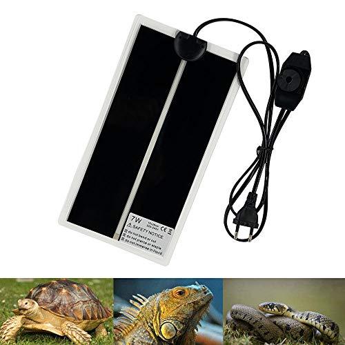 PeSandy - Alfombra calefactora de 28 x 15 cm, terrario regulable con control de temperatura para Reptiles - Tortuga, serpientes, lazardos, geckos, arañas - Alfombra de seguridad para acuario