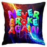 DISINIBITA Young Boy Never Broke Again Throw Pillow Cover Pillow Cushion Cover Case for Couch Sofa Home Decoration 18 X 18 Inch