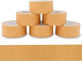 verpacking 6 Rollen Papierklebeband 50m braun, recycelbar, leise abrollend, starker Naturkautschuk Kleber, umweltschonende PP Alternative