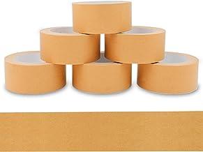 starker Naturkautschuk Kleber umweltschonende PP Klebeband Alaskaprint 1 Rollen Papierklebeband 50m Packband paketband papier Klebeband braun I leise abrollend recycelbar