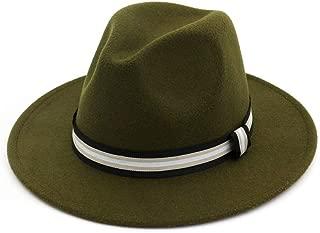 XinLin Du Classial Men Women Fedora Hat With Striped Satin Panama Jazz Hat Pop Hat Size 56-58CM