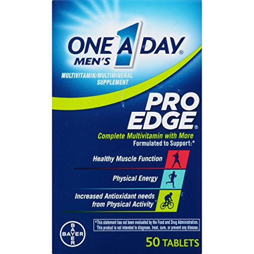 One A Day Men's Pro Edge Multivitamin, Supplement with Vitamin A, Vitamin C, Vitamin D, Vitamin E and Zinc for Immune Health Support* and Magnesium for Healthy Muscle Function, 50 Count