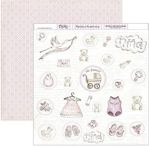 Dayka Trade Papier imprimé, multicolore, 30 x 30 cm