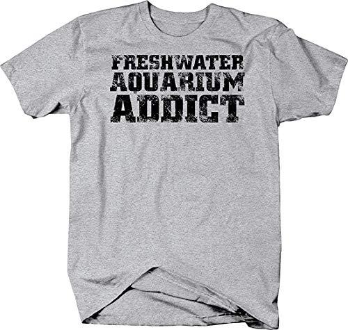 Kingloo Men's Lustiges T-Shirt Freshwater Aquarium Addict Lustiges inspiriertes grafisches Kurzarm-T-Shirt
