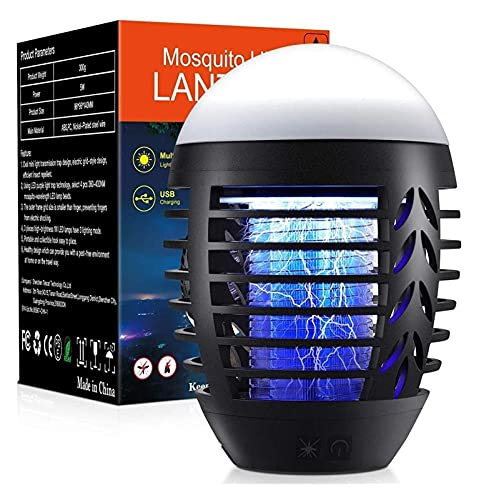 JSY Zappers de mosquitos portátil asesino eléctrico Bug Zapper insecto asesino impermeable insectos trampa mosca...