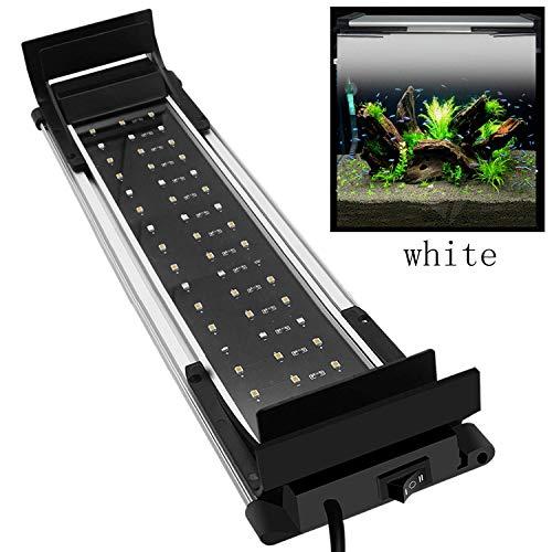 MPanda Aquarium-Licht, ultra hohes Vollspektrum, Aquarium-Licht, zwei Farben, blau-weiße LEDs, vier Schrauben-Positionierung, passend für Ihre Fisch-Wasserpflanze.