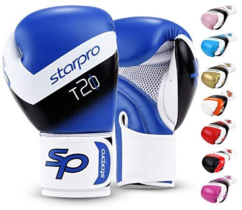Starpro T20 - Guantes de boxeo para golpes duros y K.O. rápido   Guantes de boxeo para hombre, guantes de boxeo para mujer, boxeo, entrenamiento