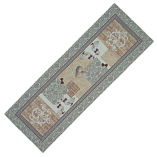 StiVoTex Tischläufer 35x97 cm Gobelin Mitteldecke Landhaus Gobelindecke Enten Küchendecke Beige