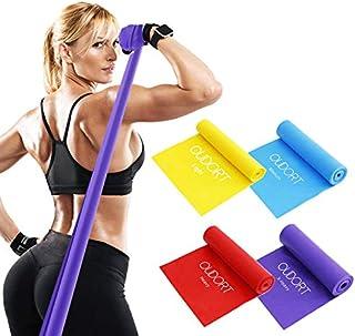 comprar comparacion Oudort - Juego de bandas de resistencia para mujeres y hombres, bandas de ejercicio elásticas deportivas con bolsa de tran...