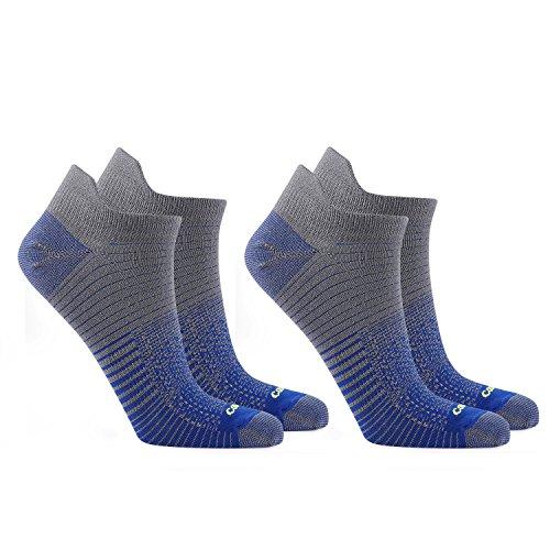 Coolmax 2 3 Paare Sneaker 38-40 41-43 44-46 Sportsocken Laufsocken Arbeitssocken Dehnbar Antibakteriell Kurzschaft Socken Strümpfe Freizeitsocken Jungen Herren Damen, 2 Paare/Blau, L (41-43)