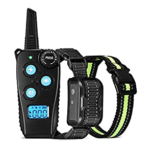 FIMITECH Dog Training Collar with Remote, Dog Shock Collar with Beep, Vibration and Shock Training Modes for Small Medium and Large Dogs, 1000 Feet Range Remote, IP67 Waterproof, Rechargeable