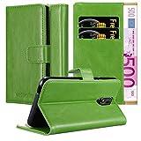 Cadorabo Hülle für Cubot Power in Gras GRÜN – Handyhülle mit Magnetverschluss, Standfunktion & Kartenfach – Hülle Cover Schutzhülle Etui Tasche Book Klapp Style