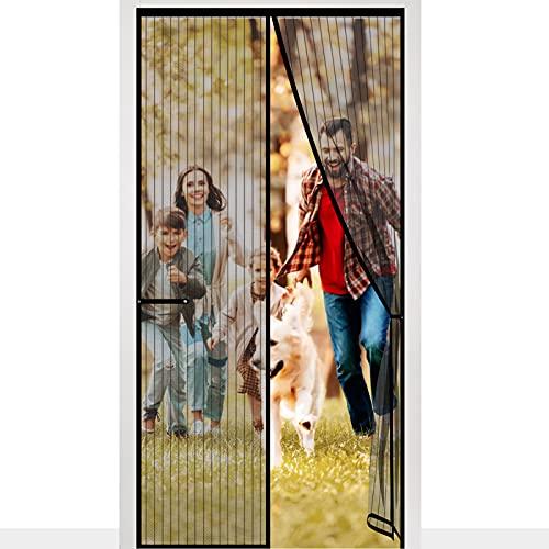 Mosquitera Puerta Magnética, Cortina Mosquitera, Fácil de Instalar sin Perforar, Mosquiteras para Puertas, Balcón, Bodega Corrediza, Patio, Sala de Estar, Habitación De Niños, 100 x 220 cm