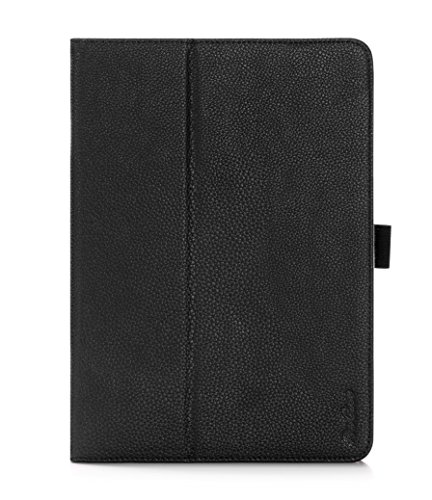 ProCase Galaxy Tab S2 9.7 Case - Stand Folio Cover Case for Galaxy Tab S2 Tablet (9.7 inch, SM-T810 T815 T813), with Hand Strap, auto Sleep/Wake (Black)