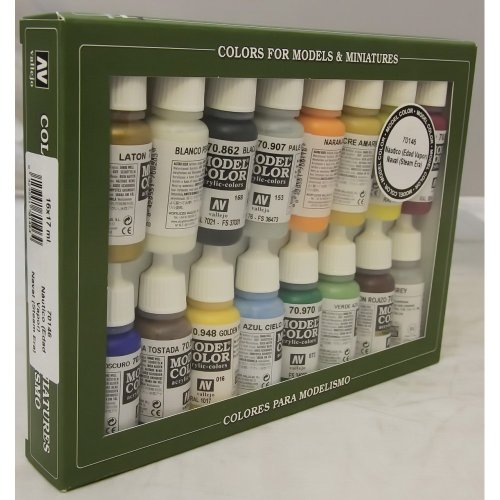 VALLEJO-3070146 70146 VALLEJO Model Color Set 16 CO, Multicolor (3070146)