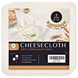 Precut Cheesecloth, 20 x 20'' 2 Pack, Weave 50 x 50, Ultra Fine Cheesecloth for Straining & Cooking, 100% Combed Unbleached Cotton Cheesecloth for Making Cheese.