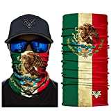 Skull Face Mask Half for Dust Wind Sun Protection Seamless 3D Tube Mask Bandana for Men Women Durable Thin Breathable Skeleton Mask Motorcycle Riding Biker Fishing Cycling Sports Festival (PL180265)