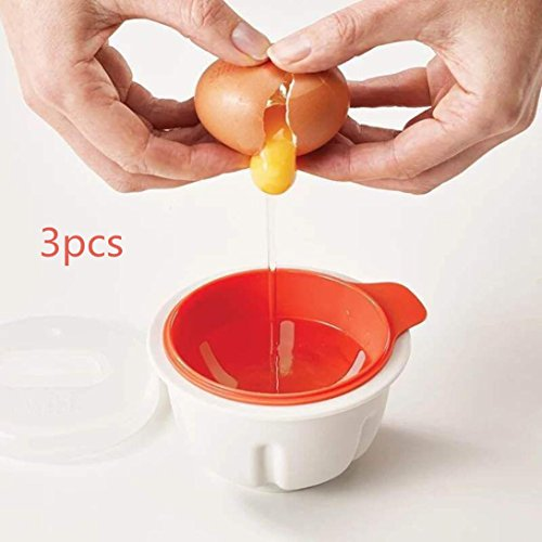 Eierkocher ,Frashing 3 Stuck Mikrowellenherd ein Ei Wilderer Sandwich Küche Neuheit Geräte Frühstück Cooker Eierkocher Egg Cooker