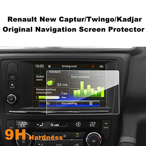 LFOTPP Twingo Captur Kadjar 7 Pulgadas Protector Pantalla Navegación, GPS Radio Cristal Templado Coche Interior Accesorios