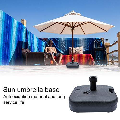 Preisvergleich Produktbild Jannyshop Sonnenschirmständer Schwerlast Quadratische Basis Wassergefüllter Marktschirmständer für Außenterrasse 18×18×5, 5 Zoll