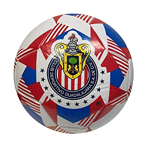 Icon Sports Fan Shop Prism Team Soccer Ball Federación Mexicana de Fútbol Asociación Chivas, Team Color, Size 5